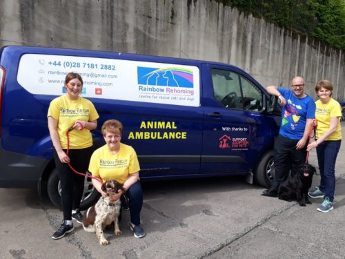Rainbow Rehoming Centre with their new van